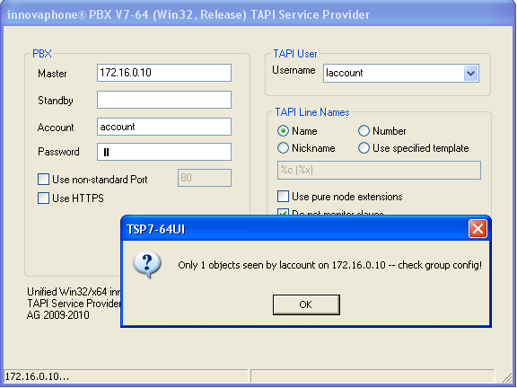 Image:Unified Win32 and x64 TAPI Service Provider - OnlyOne.png