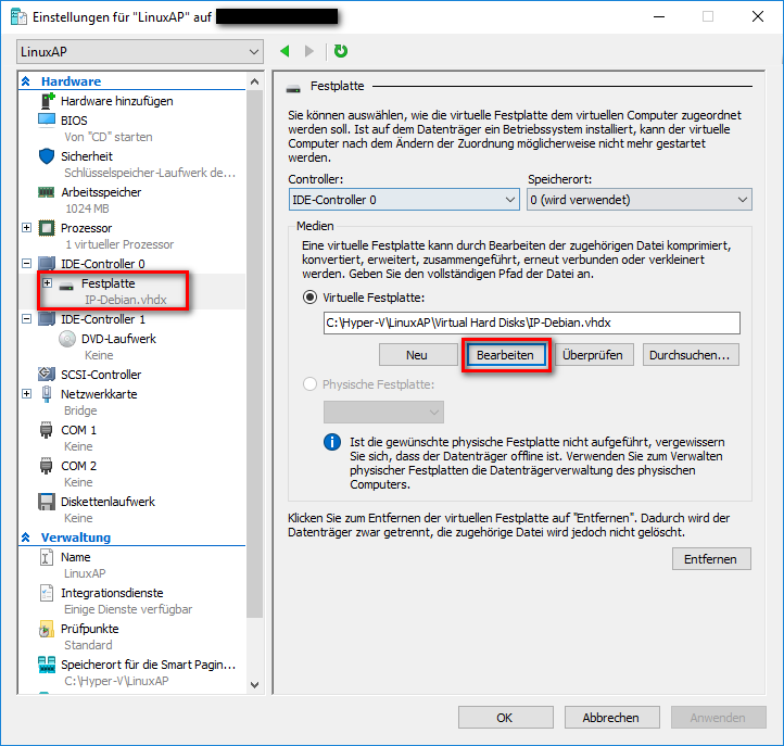 Image:Linuxap extend hdd hyper v png - innovaphone-wiki