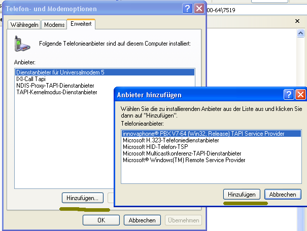 Image:Unified Win32 and x64 TAPI Service Provider - Control Panel Add.png