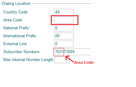 Howto:Configure DialingLocation to not use subscriber