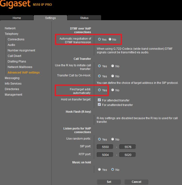 Howto:Gigaset N510 PRO - Gigaset - Testreport - innovaphone-wiki